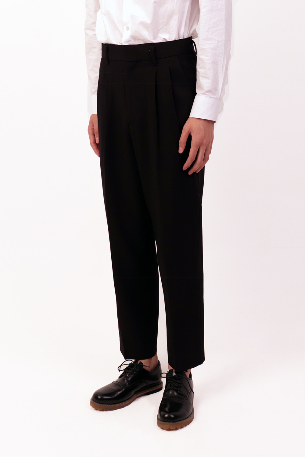 Pin Tuck Wide Slacks (2 color)