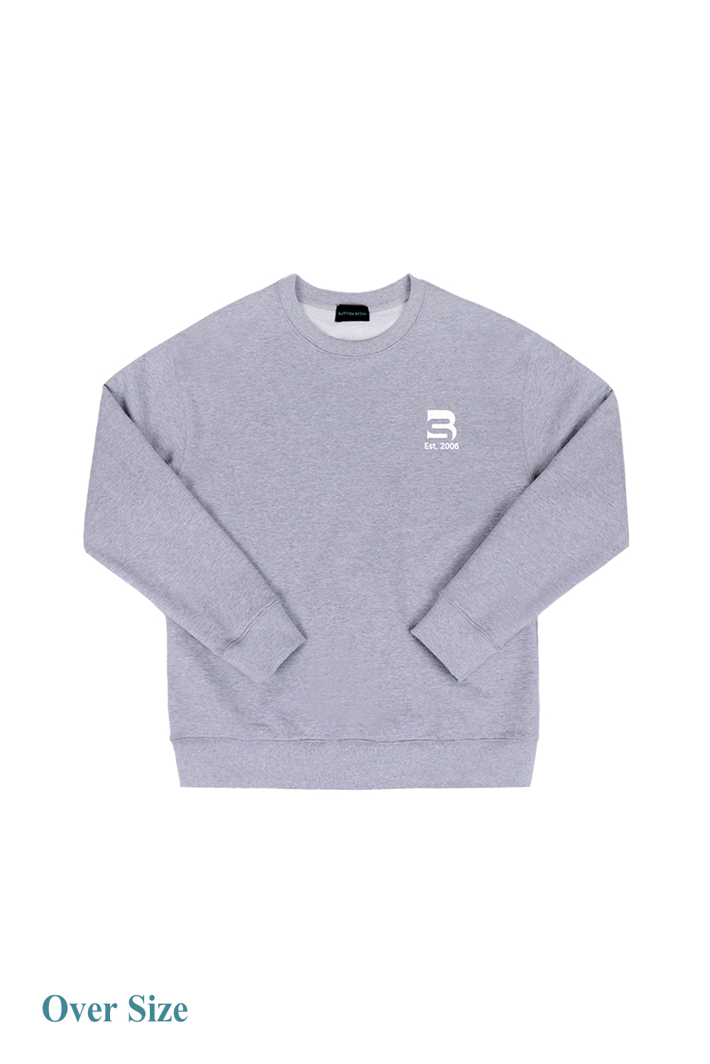 Oversize Logo Man to Man (Grey)