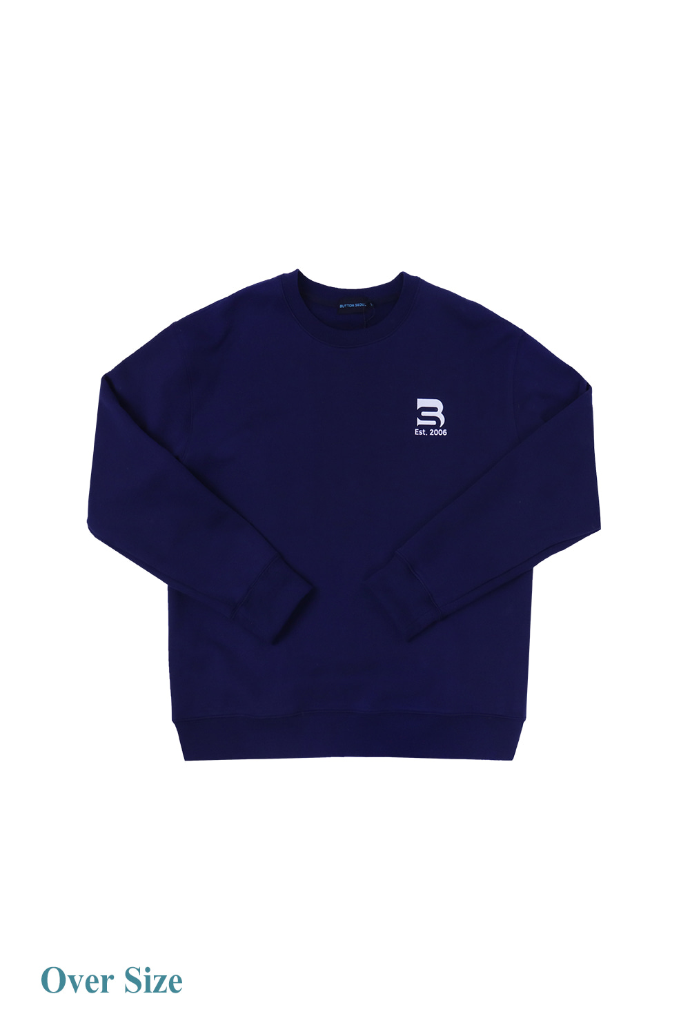 Oversize Logo Man to Man (Navy)