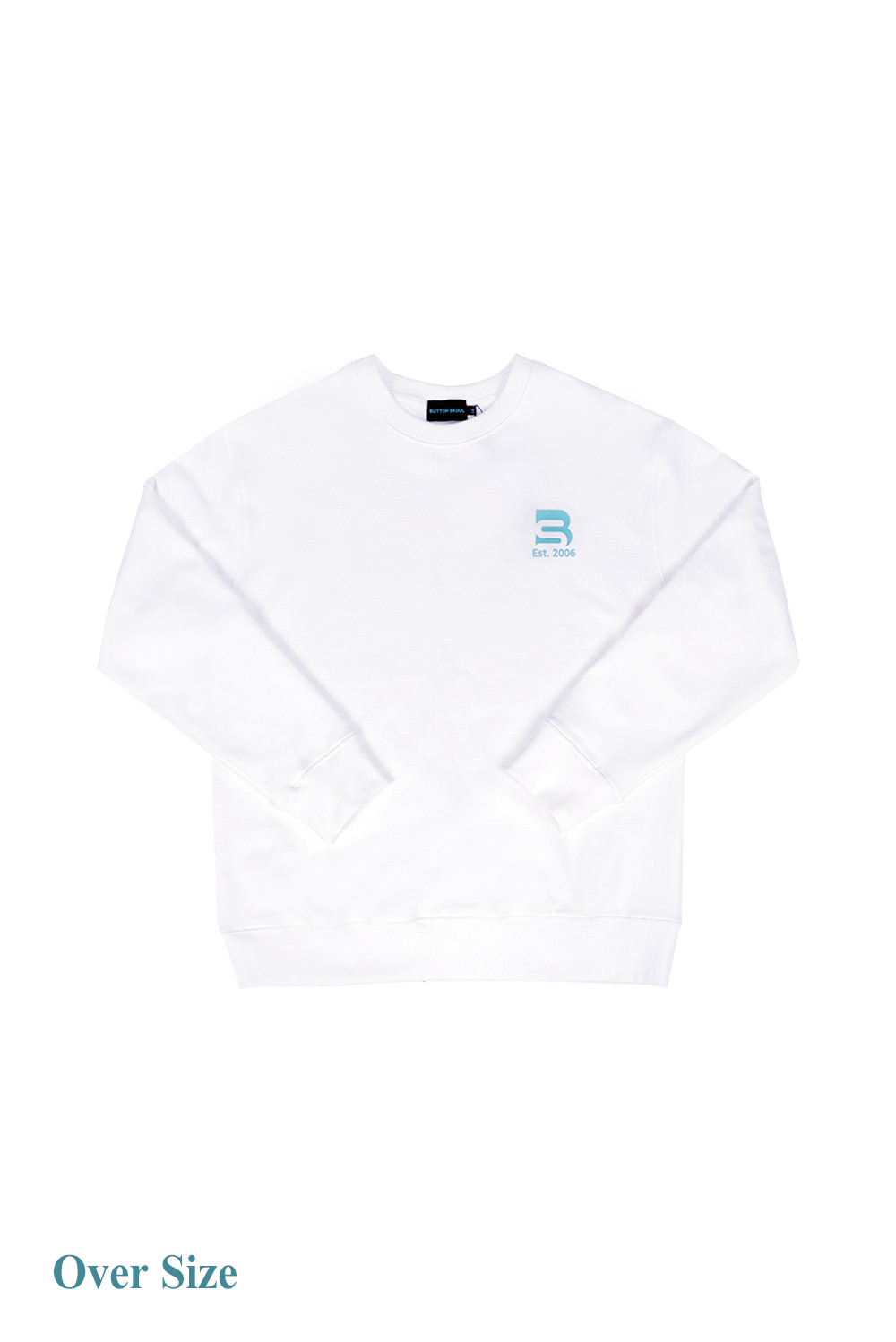 Oversize Logo Man to Man (White)