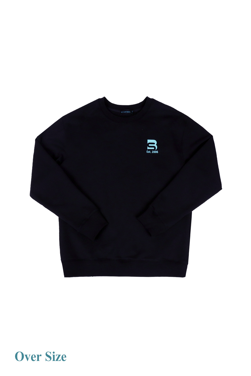 Oversize Logo Man to Man (Black)