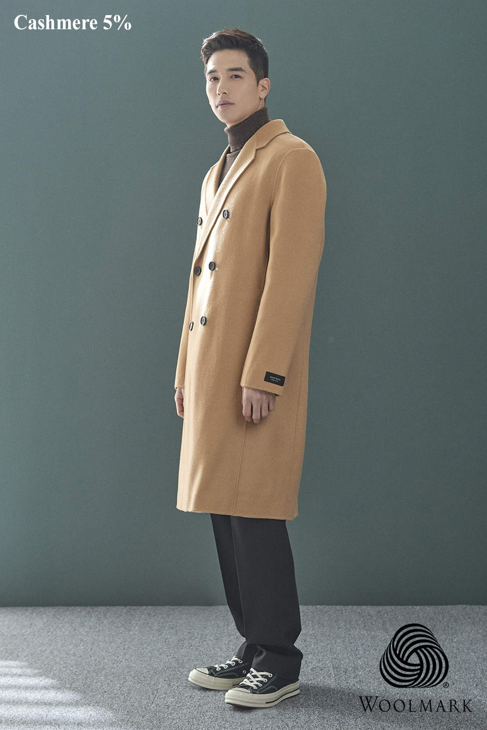 Handmade Double Coat (cashmere 5%) (2 color) [오리털 안감]