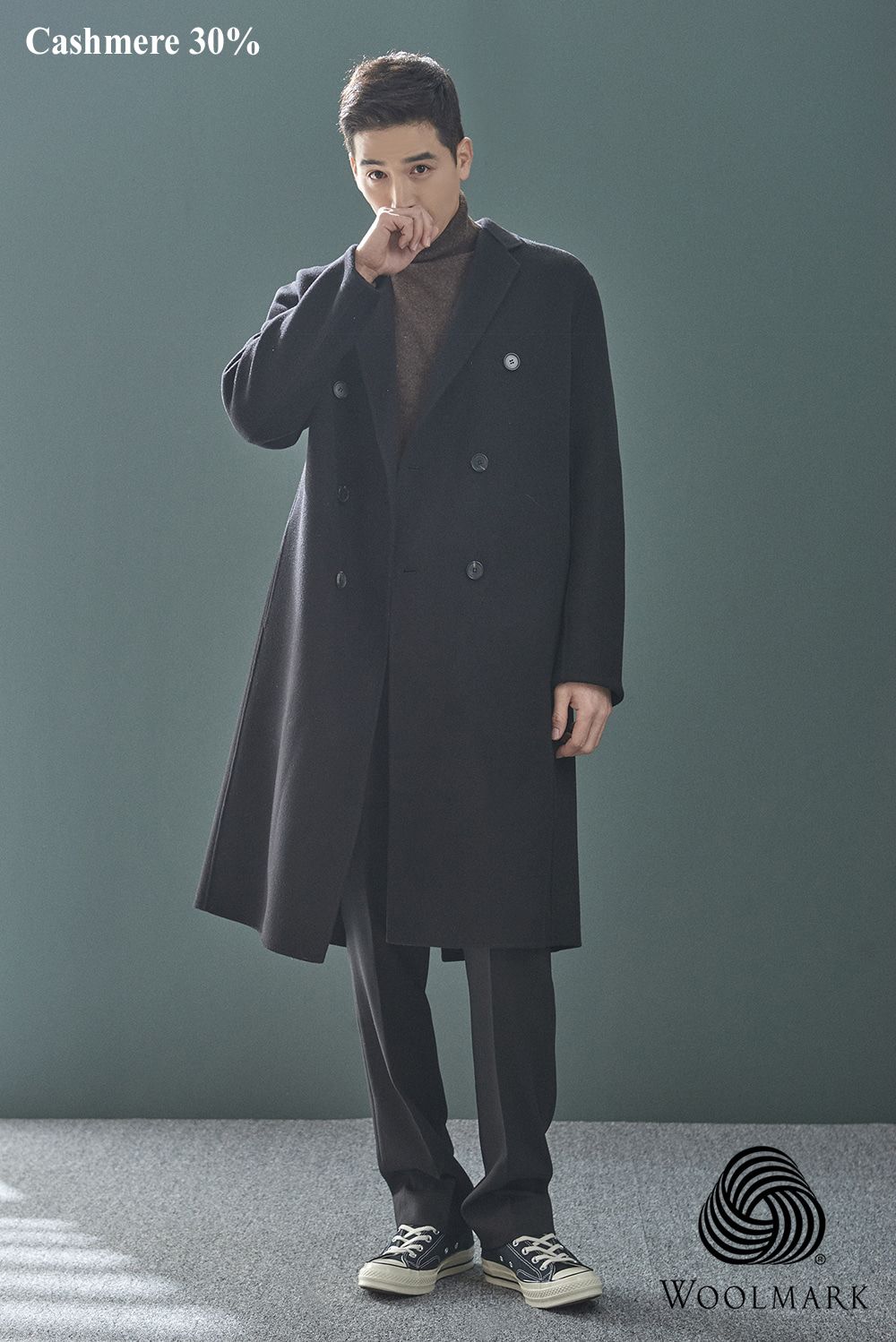 Handmade Double Over Coat (cashmere 30%) (2 color) [오리털 안감]