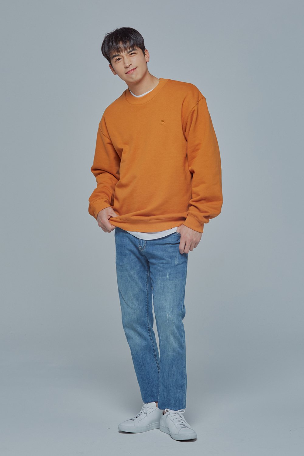 OverSize Heavy Sweat Shirt (Orange)