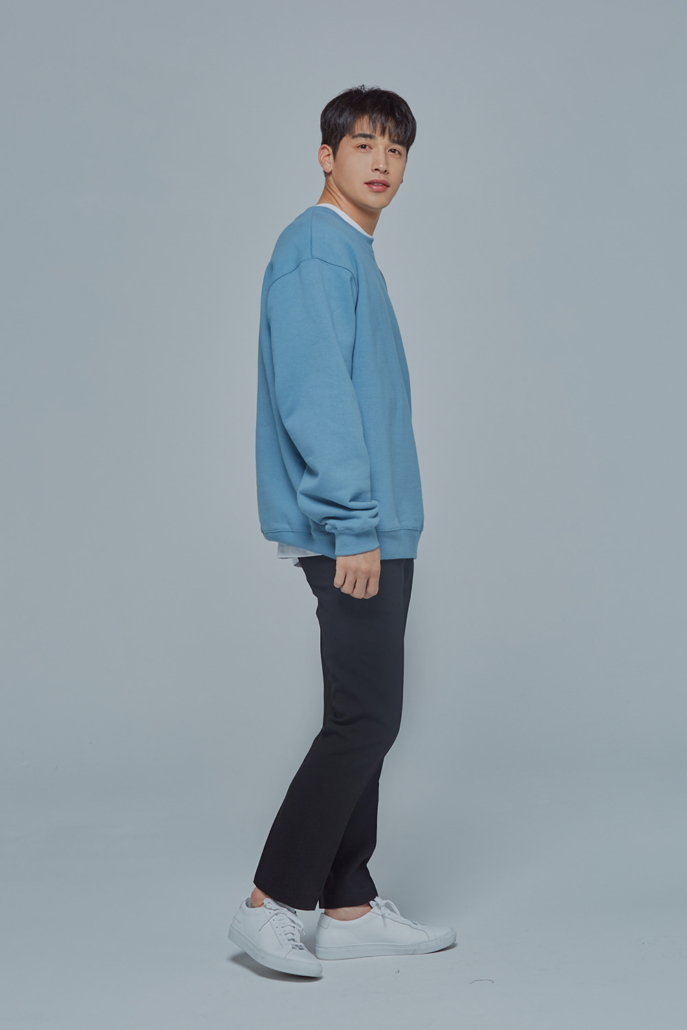OverSize Heavy Sweat Shirt (Sky Blue)
