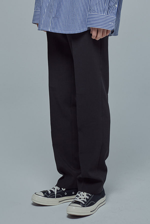 Long Wide Slacks (black)