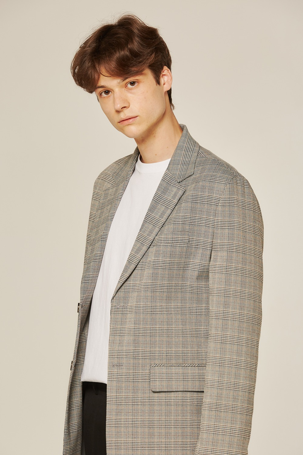 Glen check over jacket