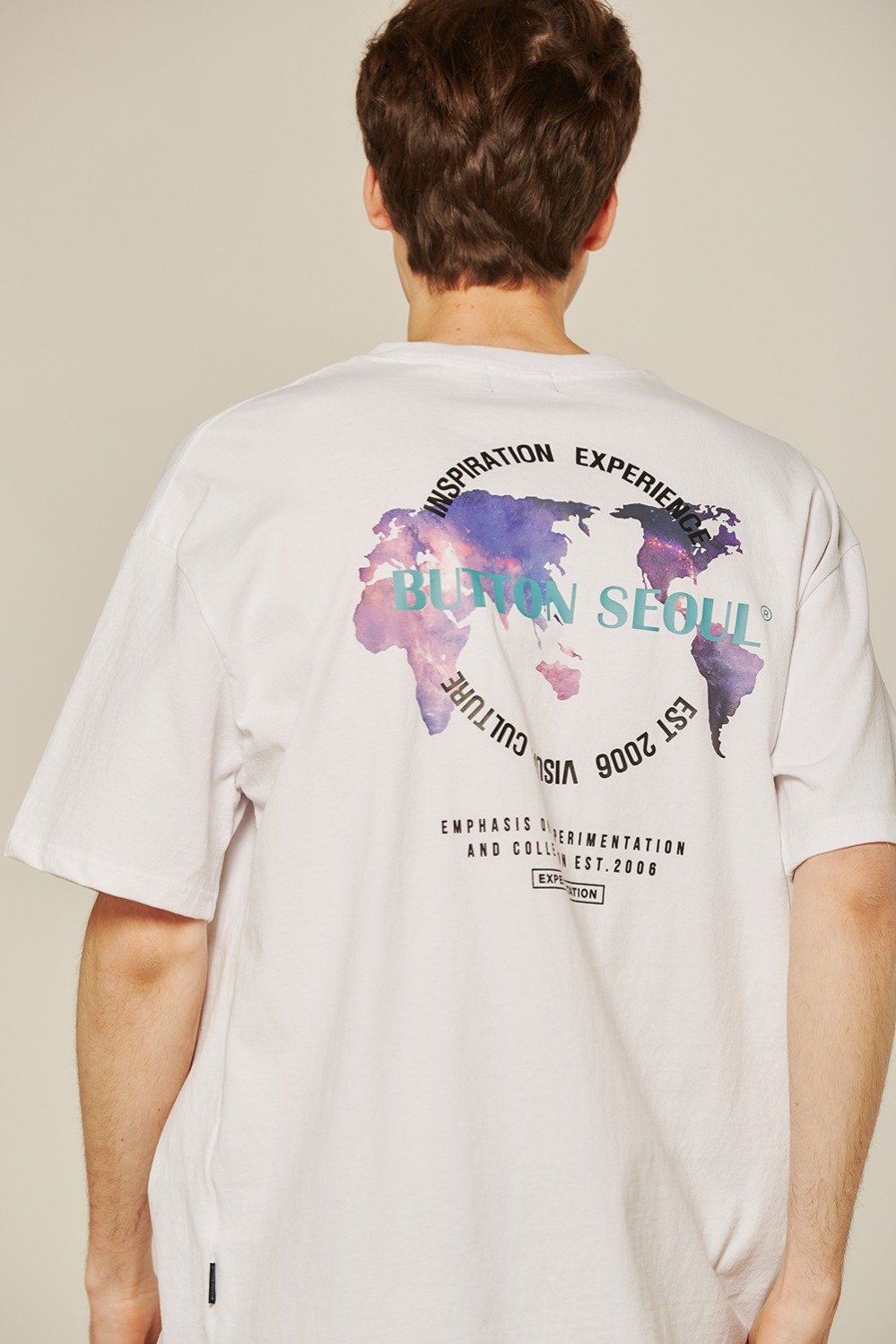 World Map T (White)