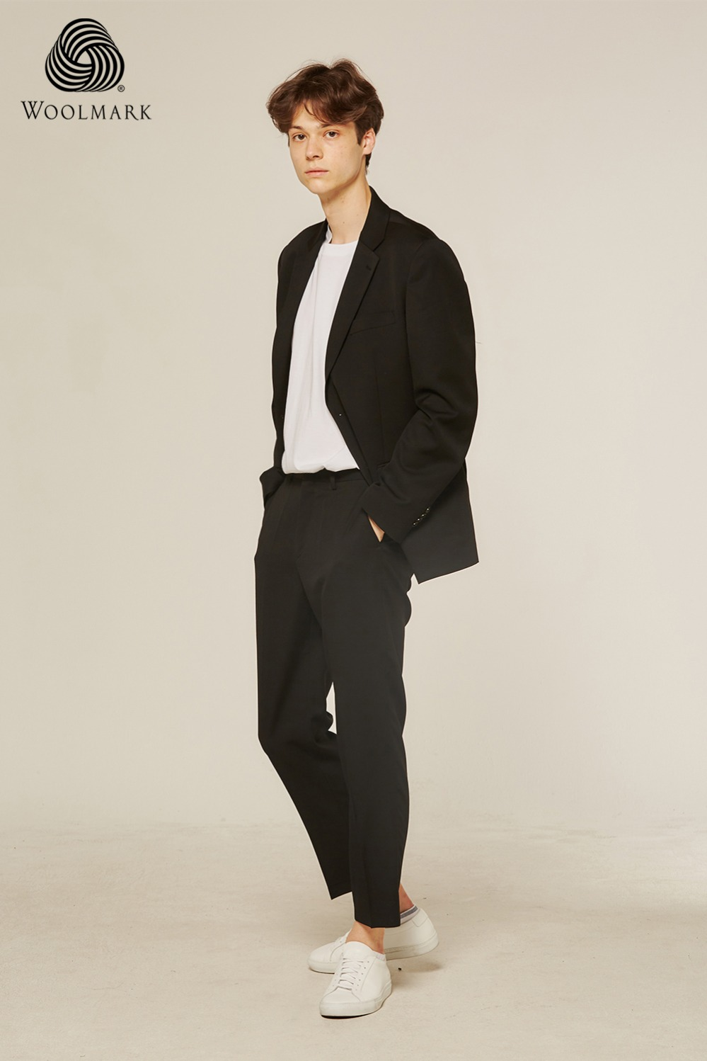 Pure Wool 100% Suit Pants (Black)