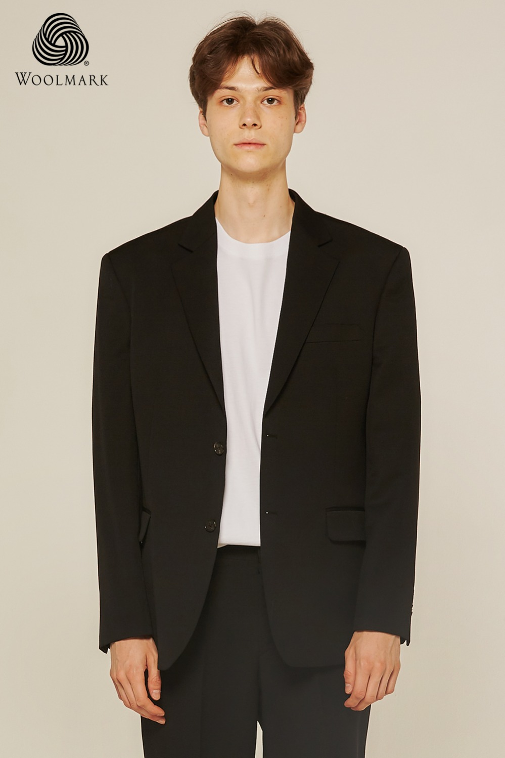Pure Wool 100% Suit Jacket (Black)