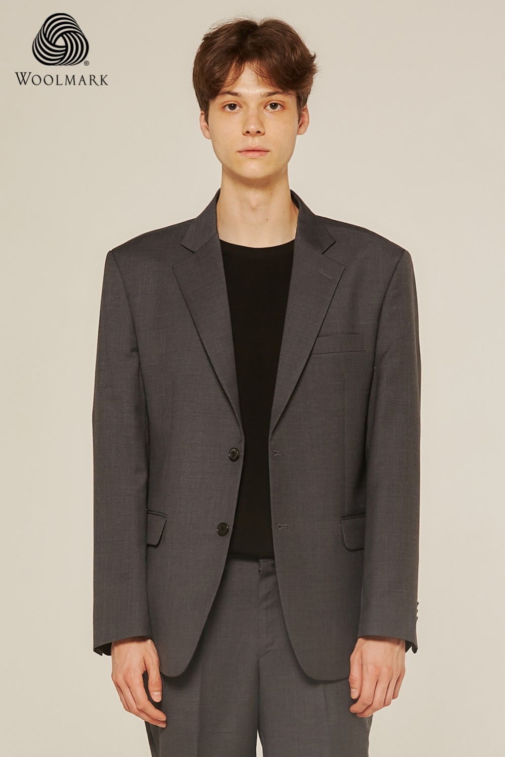 Pure Wool 100% Suit Jacket (Grey)