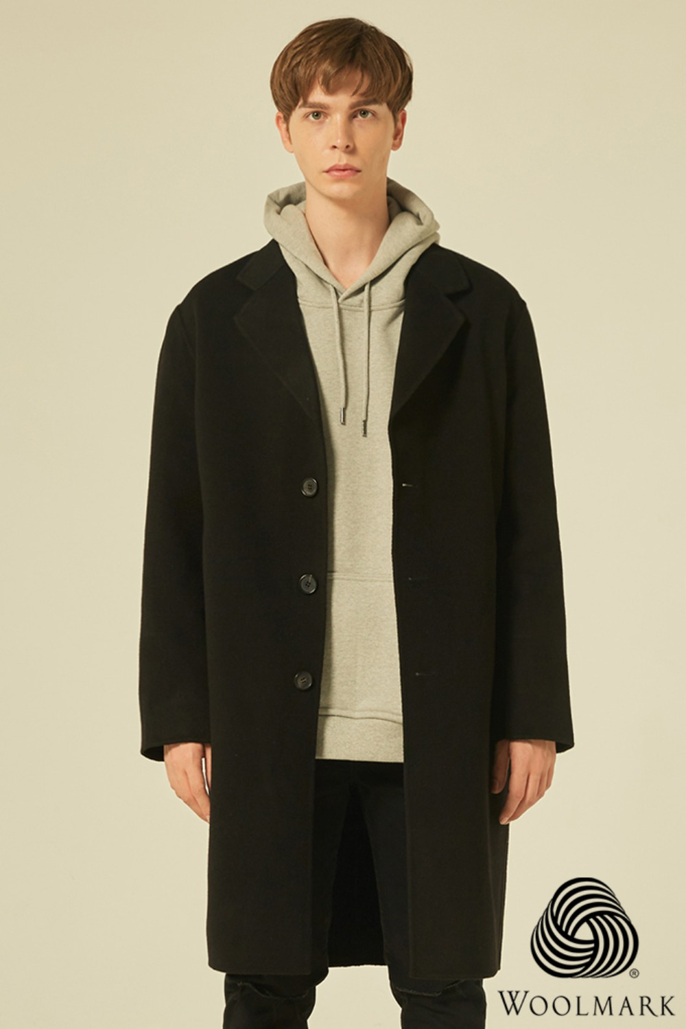 Handmade Over Coat (Black)[Cashmere 30%/오리털 안감]