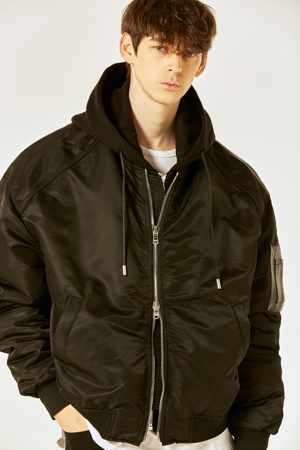 Detachable Hood Ma-1 (Lampo Zipper)