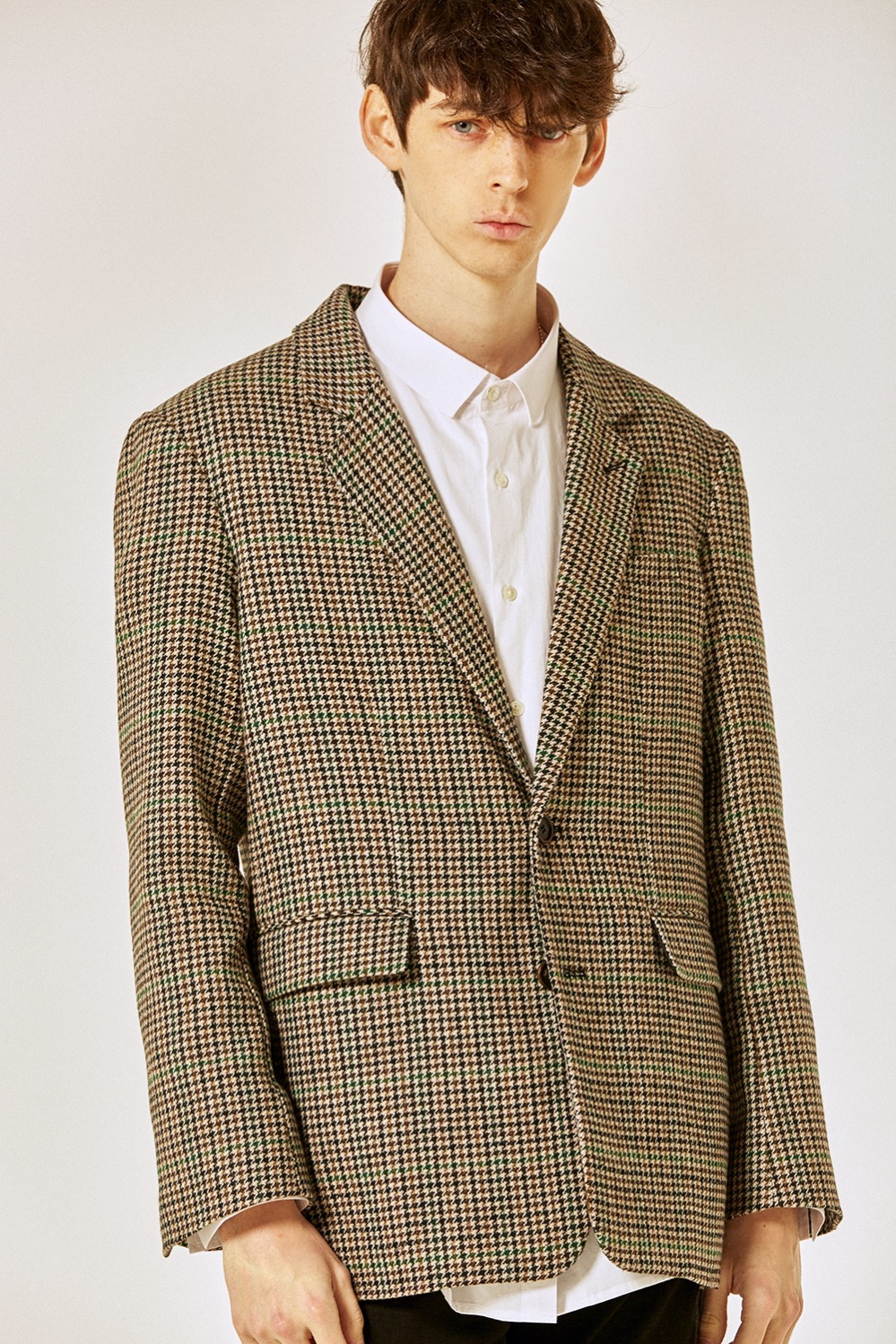 Wool Check Over Jacket