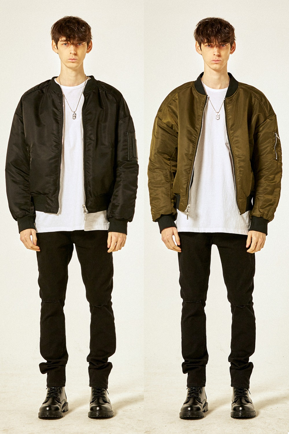 Reversible Ma-1(Black/Khaki)