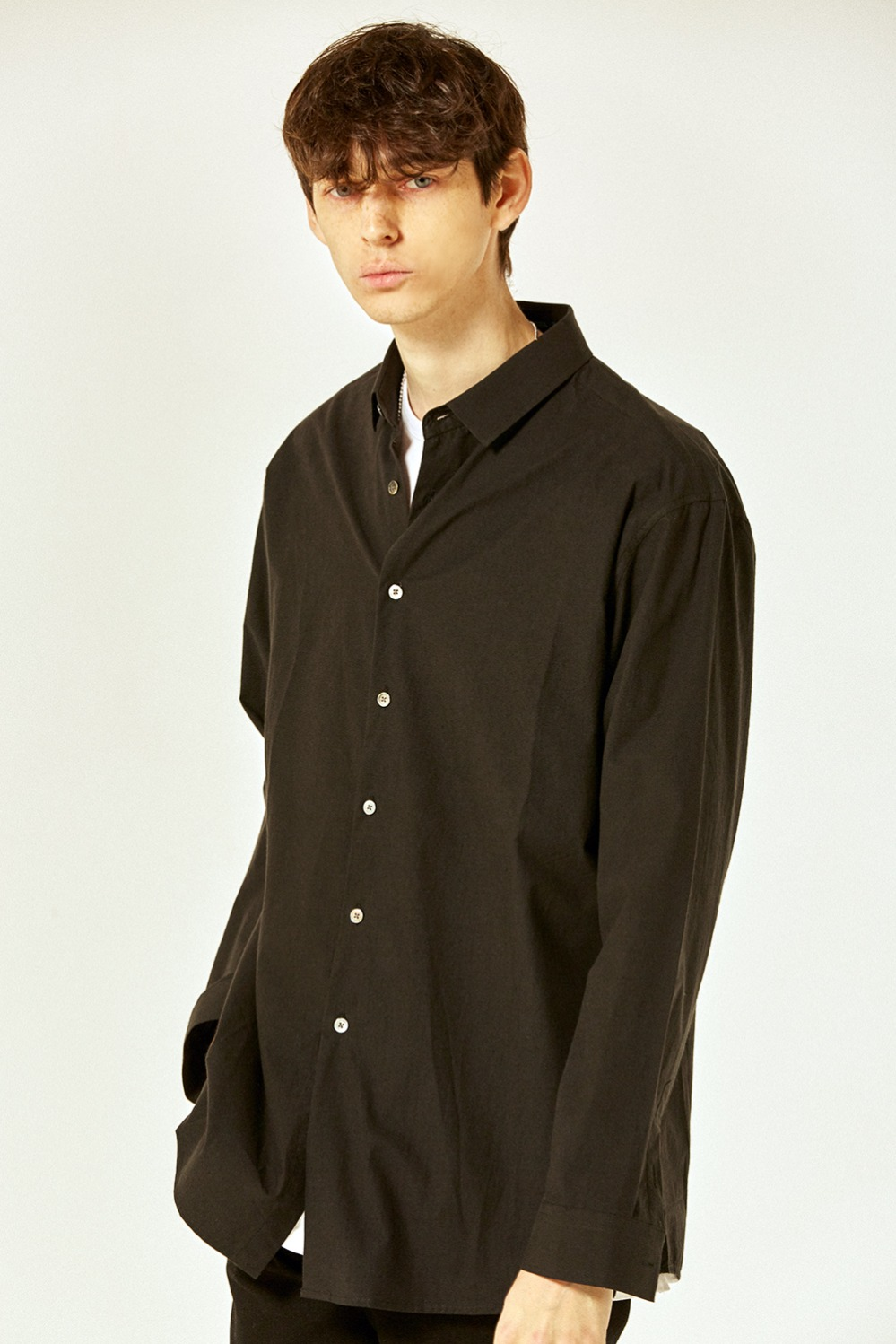 Solid Basic Shirts (Black)