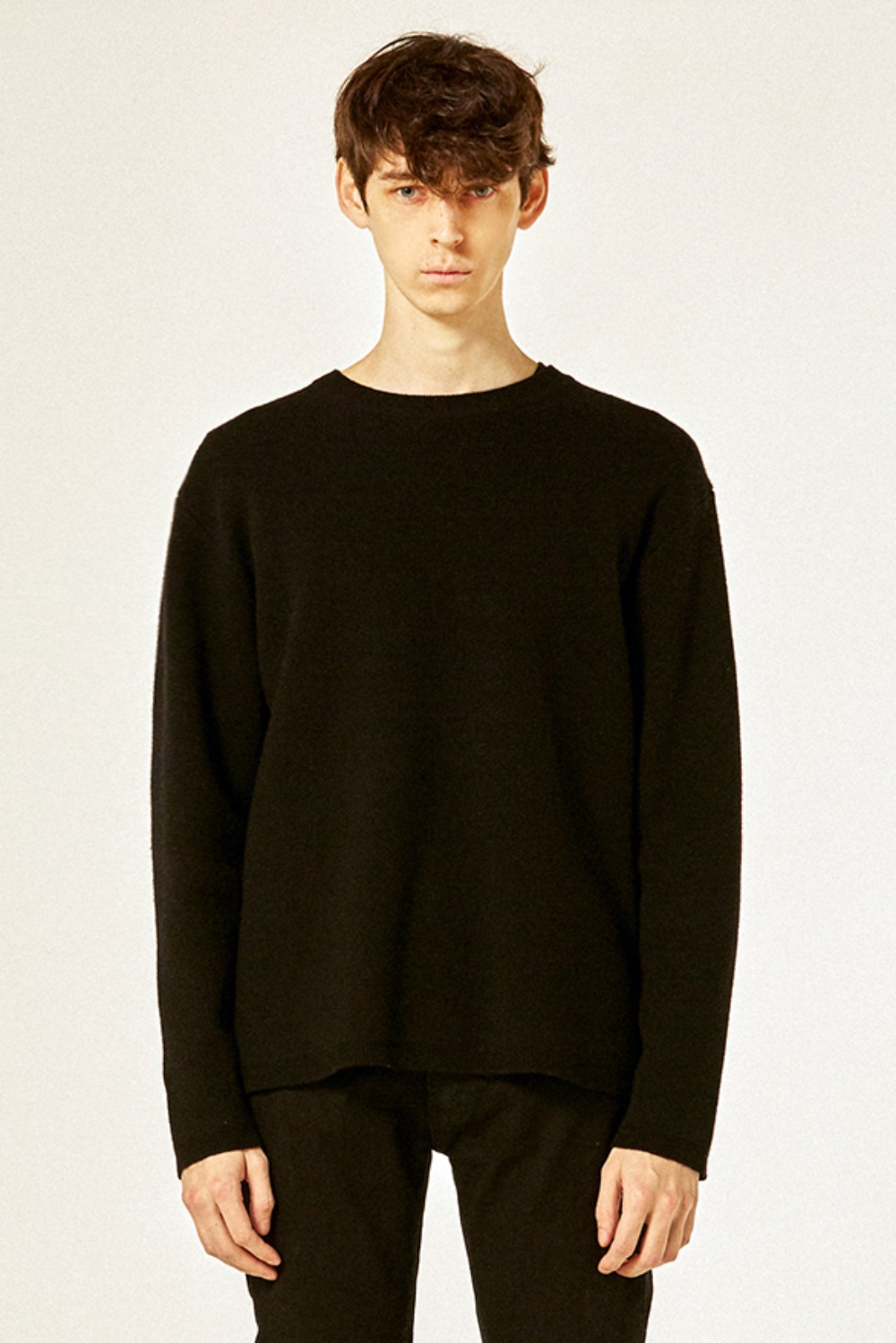 21 S/S Cashmere Knit (Black)