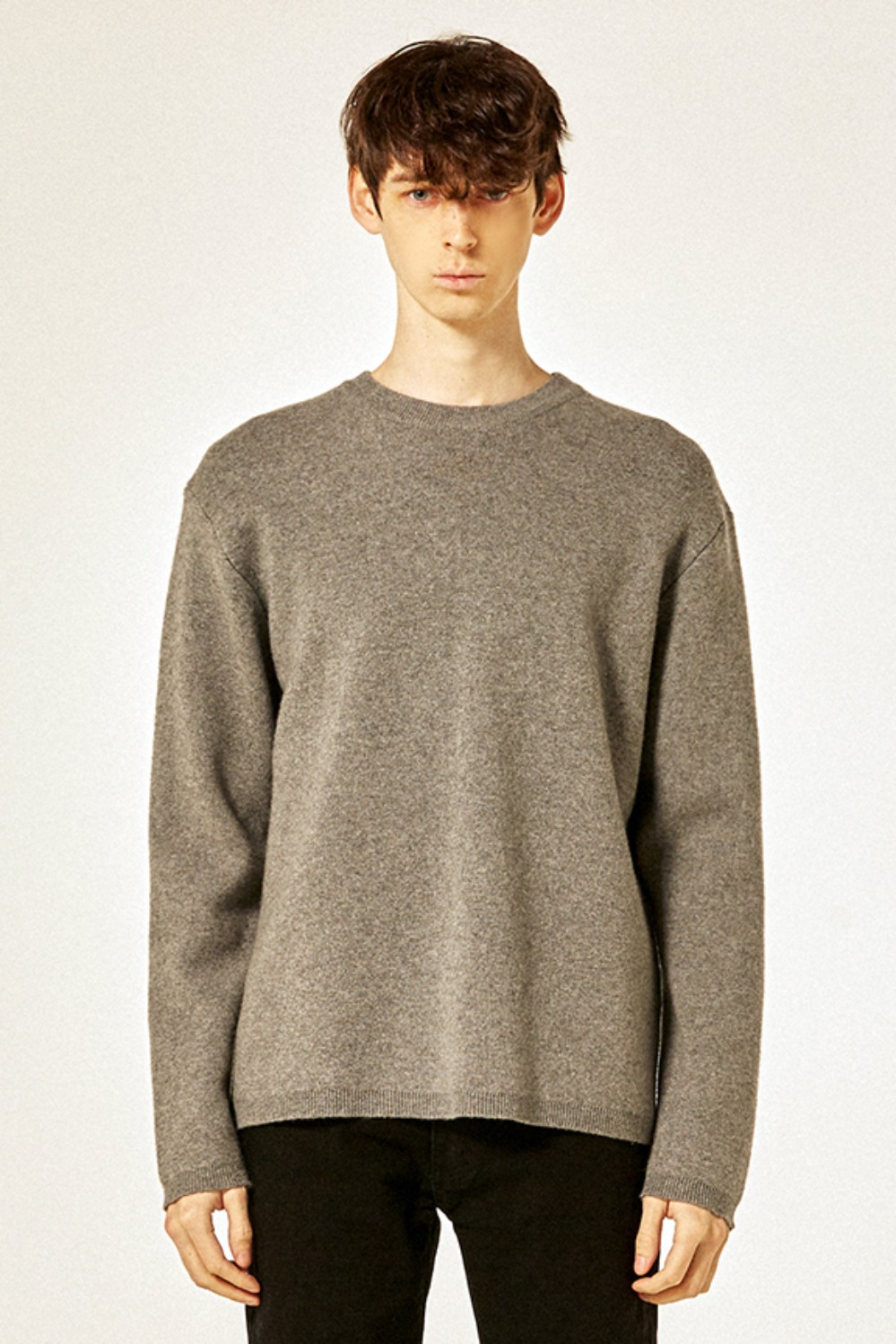 21 S/S Cashmere Knit (Dark Grey)