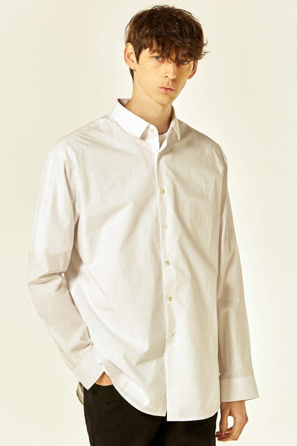 Solid Basic Shirts (White)