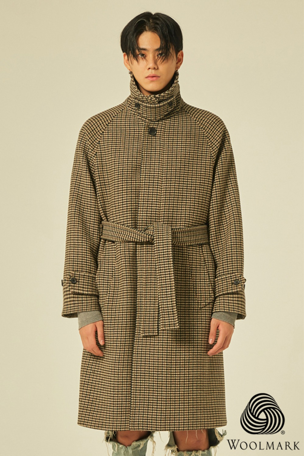Balmacaan Check Robe Coat