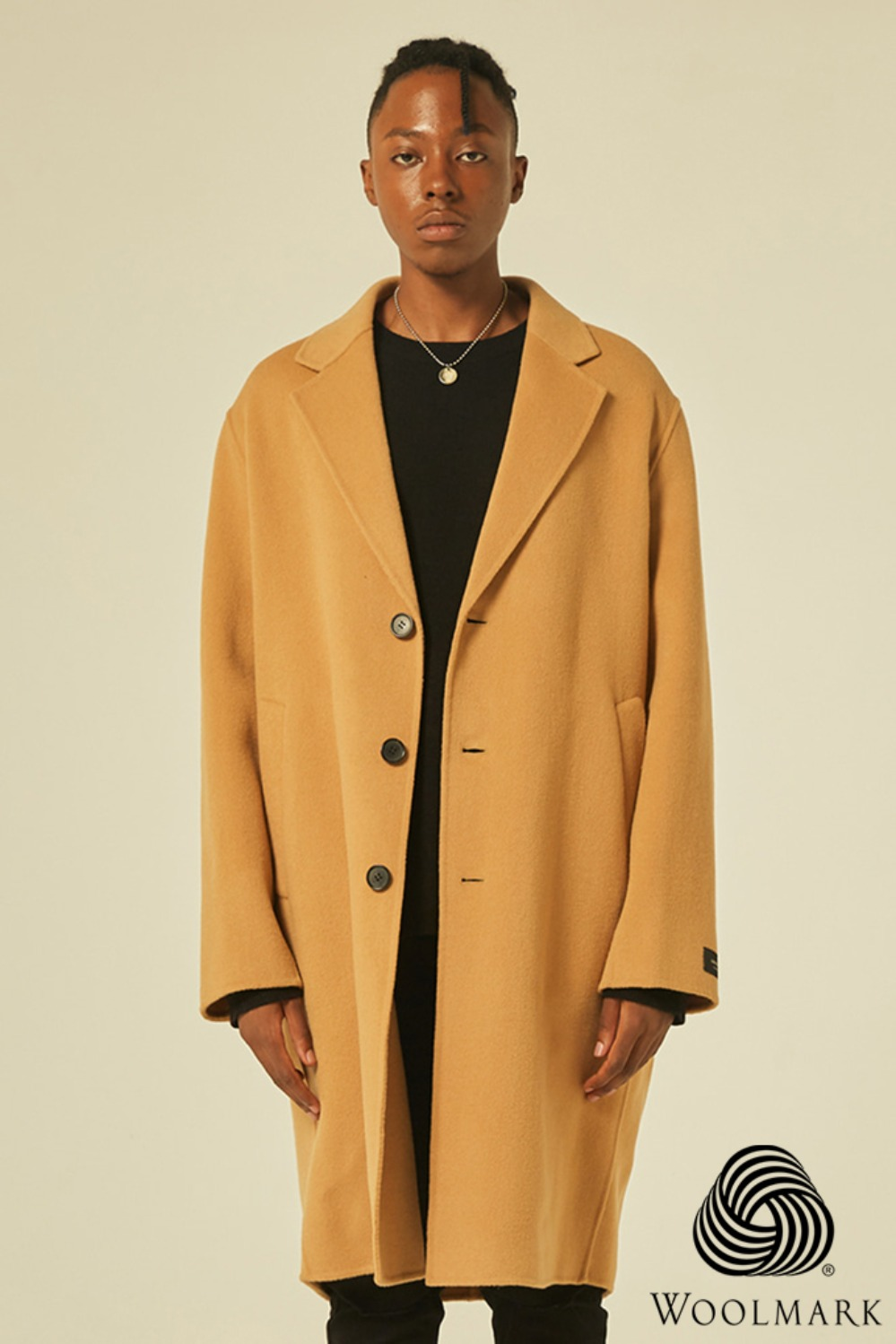 Handmade Over Coat [Cashmere 5%](Beige)