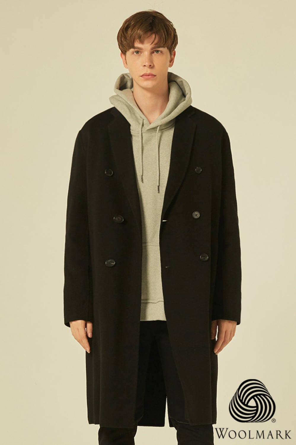 Handmade Double Over Coat (Black)[Cashmere 30%/오리털 안감]